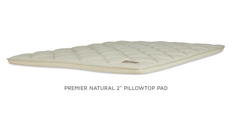 PREMIER NATURAL PILLOWTOP PADS